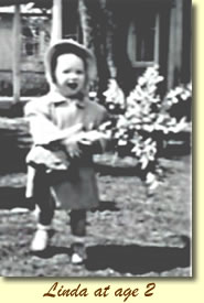 Linda Stephensen at age 2
